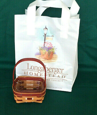 2016 Christmas Little Gifts RED White Warm Brown Basket Protector Longaberger