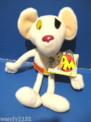 "New + Tags - Dangermouse 10"" Soft Toy / White Mouse / Original Golden Bear 2001"