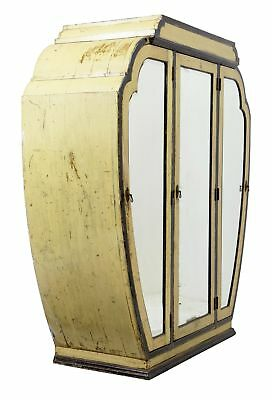Rare Shanghai Art Deco Lacquered 3 Door Wardrobe