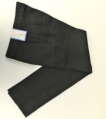 School uniform trousers Vintage 1970s UNUSED charcoal slimline Terylene Sarille