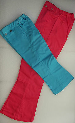 Girls flared jeans vintage 1960s UNUSED childrens Age 4 10 13 years HIPPIE