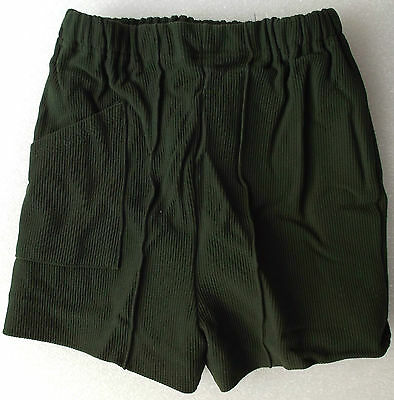 Vintage childrens shorts Age 6 UNUSED 1970s green nylon LADYBIRD fully lined