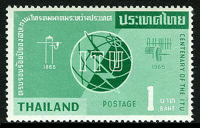 Thailand 430, MNH. ITU, cent. Emblem, Old & New Communications Equipment, 1965