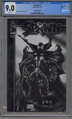 Spawn #1 Cgc 9.0 White Pages Black & White Edition