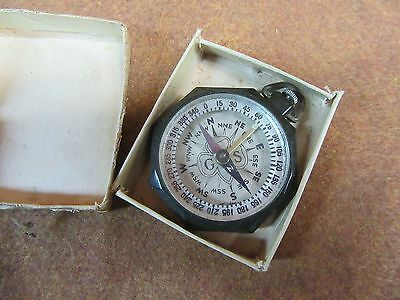 "Vintage Girl Scout Compass,w/Orig Box,GS Logo,""Made in America""~NICE #GS12.17.16"