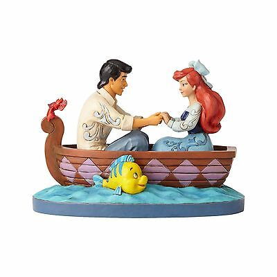 New JIM SHORE DISNEY Figurine LITTLE MERMAID ARIEL PRINCE ERIC BOAT Quilt Statue
