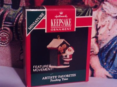 Feeding Time With Santa`1992`Miniature,Features Movement!,Hallmark Tree Ornament