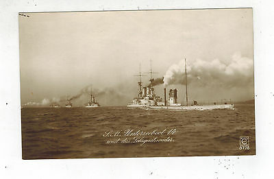 Mint Pre WW2 Germany Navy Real Picture Postcard U Boat 14 Submarine in Convoy