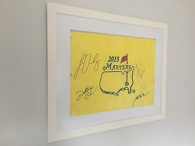 Signed 2015 Masters Flag - 100% Authentic and Framed