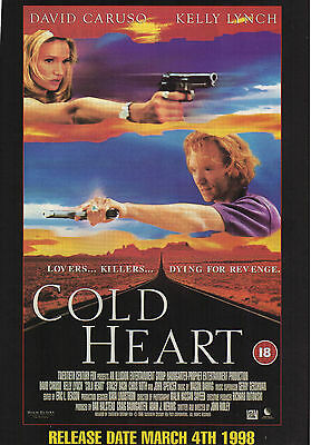 A4 Advert for the Video Release of Cold Heart David Caruso Kelly Lynch