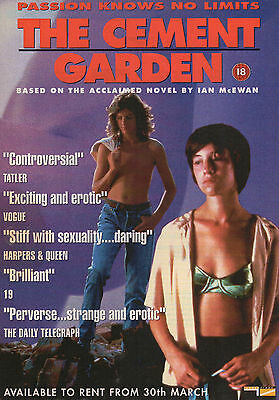 A4 Advert for the Video Release of Cement Garden Charlotte Gainsbourg