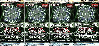 YuGiOh! Legendary Collection 3 UNL Edition New And Sealed Booster Packs x4
