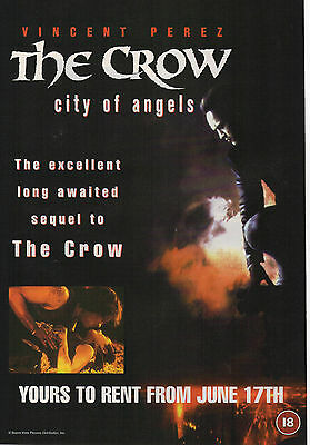 A4 Advert for the Video Release of The Crow City Of Angels Vincent Perez