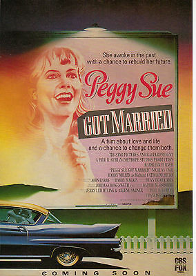 A4 Advert for the Video Release of Peggy Sue Got Married Kathleen Turner