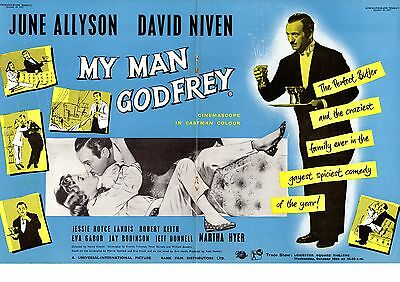 Double Page Film Advert 1957 My Man Godfrey David Niven June Allyson Martha Hyer