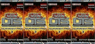 "YuGiOh! ""OTS Tournament Pack 3"" New And Sealed Booster Packs x4"