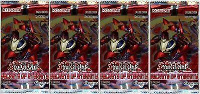 YuGiOh! Secrets of Eternity 1st Edition New And Sealed Booster Packs x4