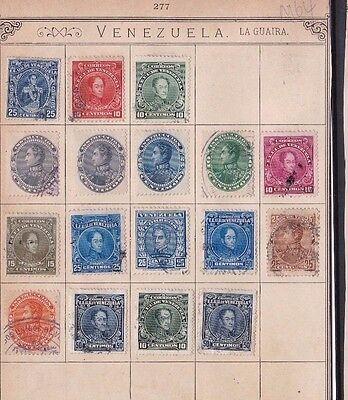 Venezuela   Early Stamps On Old Album Page     Ref R 1606