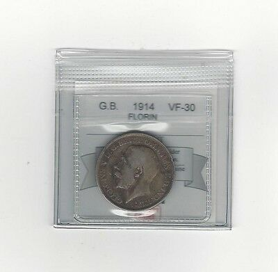 **1914**Great Britain, Florin, Coin Mart  Graded**VF-30**