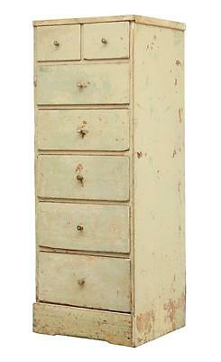 19Th Century Painted Swedish Tallboy Chest Of Drawers