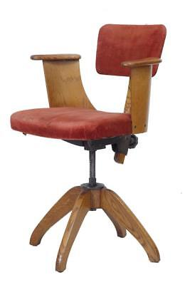 1920's OAK SWIVEL OFFICE CHAIR