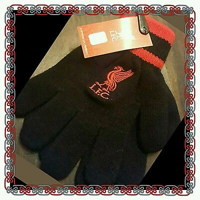 Official Liverpool Kids Gloves - Black - Great Gift Idea