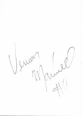 Autographed Index Card - Vernon Maxwell San Antonio Spurs Houston Rockets Guard