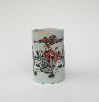 Antique Chinese Porcelain Brush Pot  Tongzhi Signed