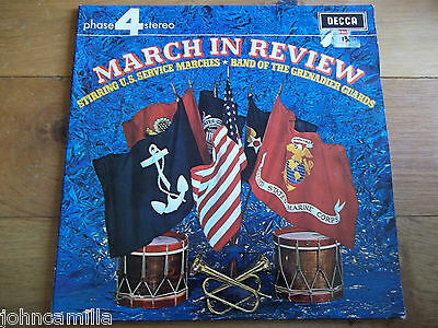 """The Grenadier Guards - March In Review - 12"""" Lp / Record - Decca - Pfs 4171"""