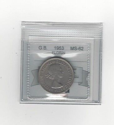 **1953**Great Britain, Florin, Coin Mart  Graded**MS-62**