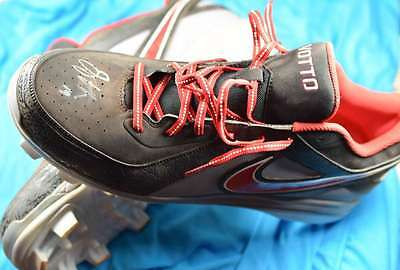 Joey Votto Psa/dna Coa Signed Game Used Baseball Cleats Authentic Autograph