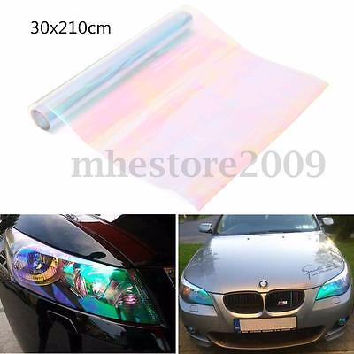 12x84'' Chameleon Clear Car Tint Headlight Film Taillight Vinyl Fog Light Sheet