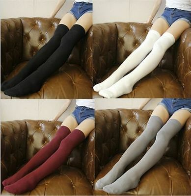 Ladies Over The Knee Thigh High Womens Stretch Girls Cotton Socks One Size