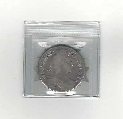 **1696**Great Britain, Crown, First Harp, Coin Mart Graded **VF-20**