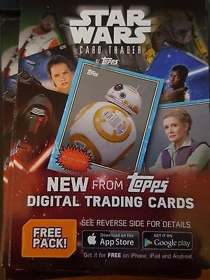 2016 Topps Star Wars Rogue One Card Trader Free Pack Digital Code Card Unused