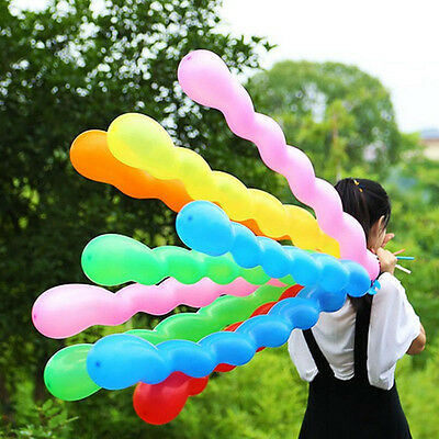 10pcs/Mix Color Spiral Twist Latex Balloons Wedding Birthday Party Decor Kid Toy