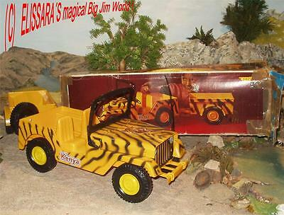 Big Jim - Safari Jeep KENYA mit ANHÄNGER/ Trailer + OVP / Box  - Molto / Spain