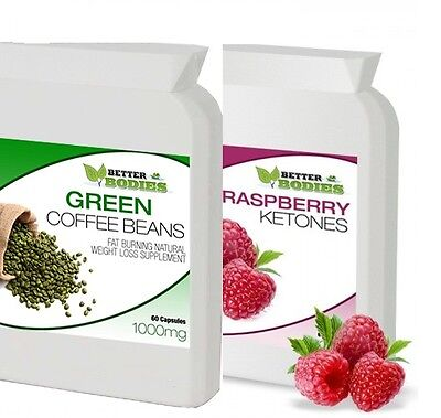 Raspberry Ketone + Green Coffee Bean Extract Diet Weight Loss Slimming Pills