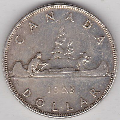1953 Canada One Dollar Silver Coin In Near Extremely Fine Condition