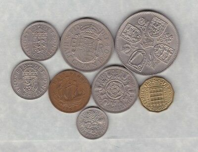 1960 Elizabeth Ii Set Of 8 Coins In Good Very Fine Or Better Condition