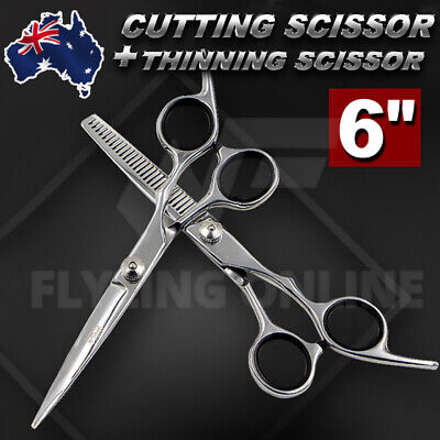 "6"" Salon Hairdressing Scissors Set Hair Cutting Cape Barber Gown Cloth  Nylon"