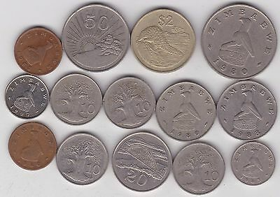 15 Coins From Zimbabwe Dated From 1980 To 1997