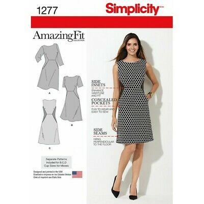 Simplicity Sewing Pattern 1277 Miss and Plus Amazing Fit Dress