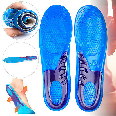 New Unisex Silicone Gel Orthotic Arch Support Trainer Sport Shoe Insole Run Pad