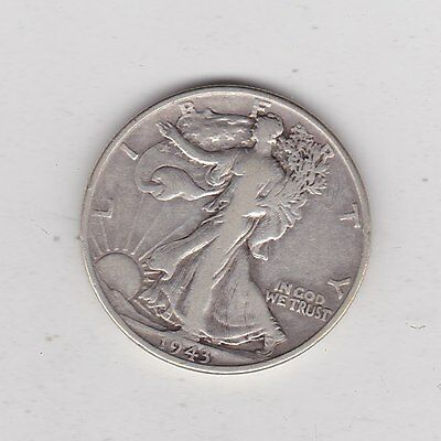 Usa 1943 Silver Half Dollar In A Used Fine Or Slightly Better Condition
