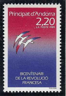 Timbre Andorre France Neuf N° 376  **  Bicentenaire Revolution Francaise