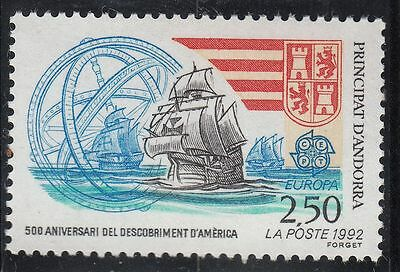 Timbre Andorre France Neuf N° 416  **  Christophe Colomb Caravelles
