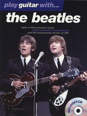 Play Guitar with The Beatles TAB Music Book & Play-Along Backing Tracks CD