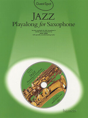 Jazz Playalong for Saxophone Guest Spot Alto Sax Music Book & Backing Tracks CD
