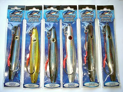 Williamson Jig Mixed Lot Of 6 Vortex Jigs Best Saltwater Fishing Jigging Lures